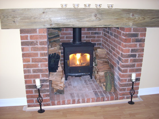 Garage Conversion Ideas log-burner
